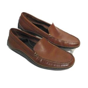 COLE HAAN Brown Leather Driving Loafers Shoes 8 AA